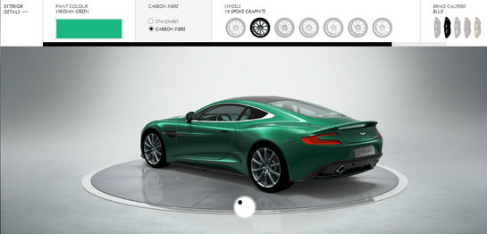 Aston Martin Vanquish Online Customizer Launched