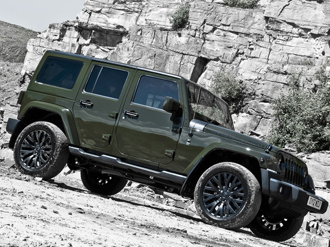 Kahn Design Military Green Jeep Wrangler