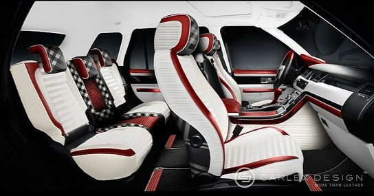carlex range rover with burberry interior. Black Bedroom Furniture Sets. Home Design Ideas