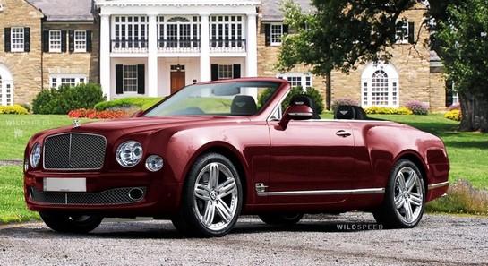 Rendering Bentley Mulsanne Convertible