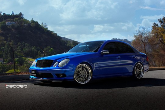 good old e55 amg on rennen forged wheels. Black Bedroom Furniture Sets. Home Design Ideas