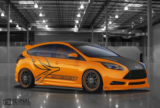 custom ford focus st coming   sema