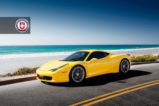 Ferrari 458 with HRE S101 2 at Cool: Ferrari 458 with HRE S101 Wheels
