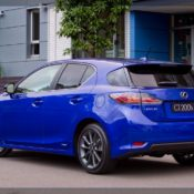 2011 lexus ct 200h f sport rear side 175x175 at Lexus History & Photo Gallery