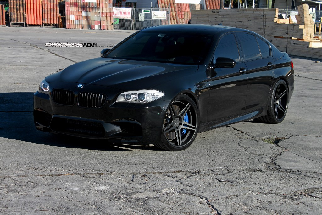 Blacked Out Bmw M5 On Adv1 Wheels