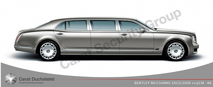 armoured bentley mulsanne 2 at Armoured Bentley Mulsanne Limousine by Carat