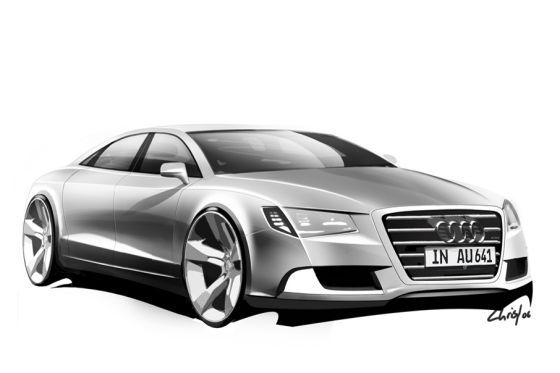 audi concept sketch a8 001 10271 at Audi released renders of upcoming models