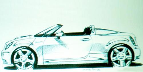 mini speedster sketch at 2011 Mini Speedster sketch leaked?