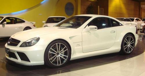 sl65 black white at AMG brings SL63 IWC and SL65 Black to New York fashion week