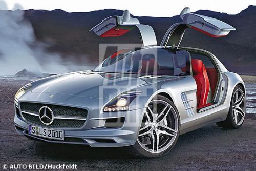 sls rendering 5jpg at Mercedes SLS Gullwing renderings & technical data