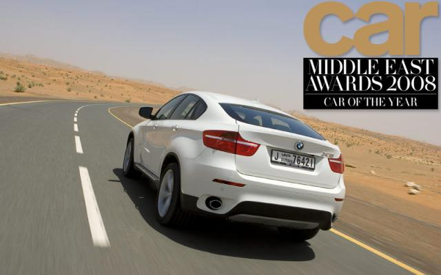x6 coty at CAR middle east named BMW X6 car of the year