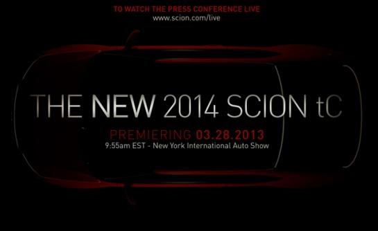 2014 Scion tC 545x334 at 2014 Scion tC Confirmed for New York Debut