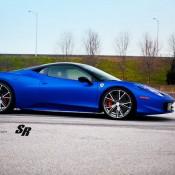 Blue Ferrari 458 Italia on PUR 3 175x175 at Gallery: Blue Ferrari 458 Italia on PUR Wheels
