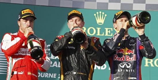 F1 Australia Podium at F1 Australia Grand Prix Roundup
