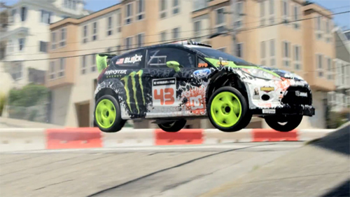 Ken Block Ford Fiesta at Ken Block Old School Hooning