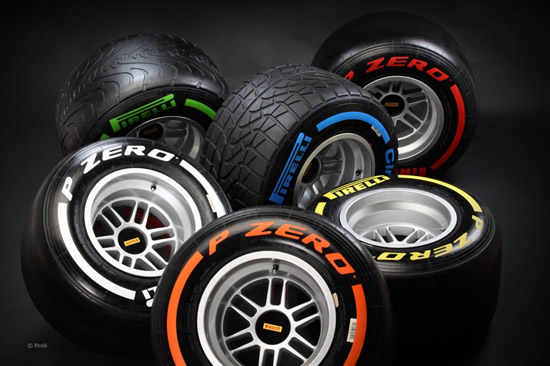 Pirelli at The Top Dog's Preparations For The 2013 F1 Season