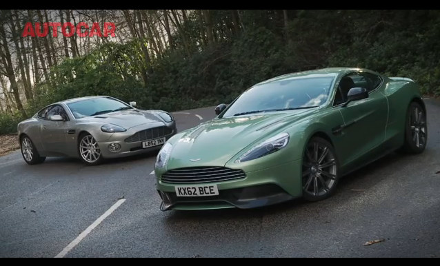 New Aston Martin Vanquish Vs Its Old Man Video - Old aston martin vanquish