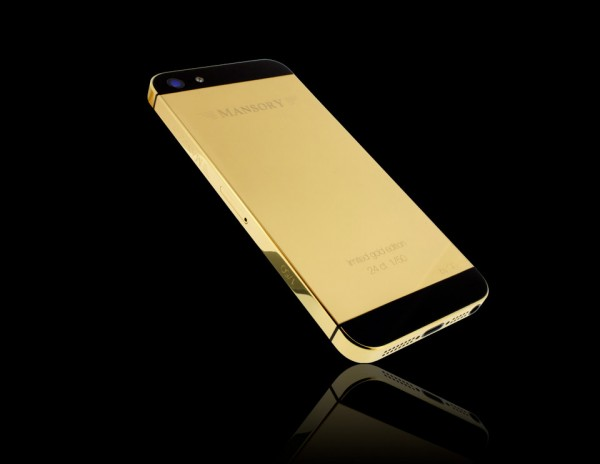 Gold iPhone 5 64GB 1 600x464 at Gold iPhone 5 by Mansory Unveiled at BaselWorld