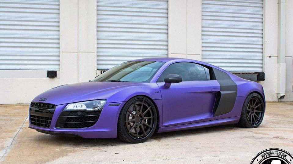 Matte Purple Audi R8 by Superior Auto Design