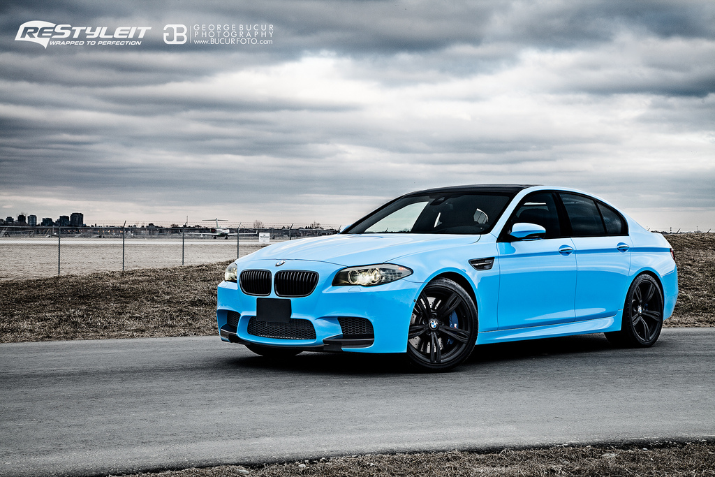 Bmw M5 F10 Wrapped In Olympic Blue By Restyleit