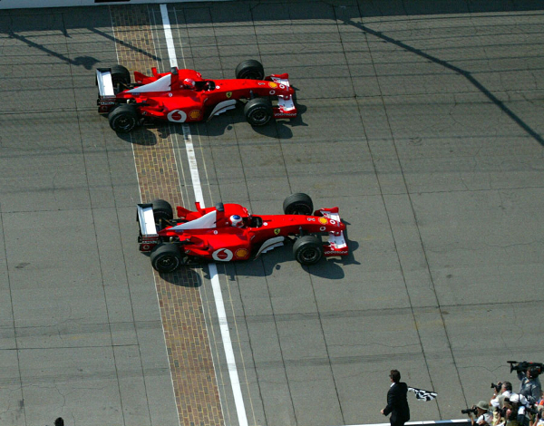 2002 US at Tightest Race Finishes in F1 History