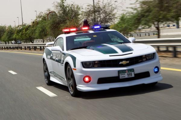 Chevrolet Camaro SS Dubai Police 600x399 at Chevrolet Camaro SS Officially Joins Dubai Police Force