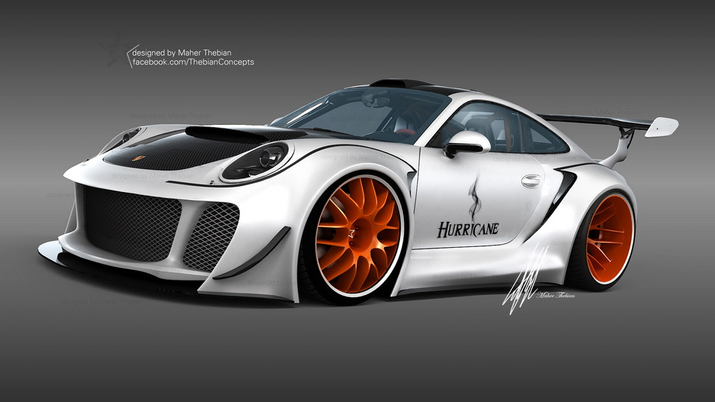 Rendering Porsche 911 Hurricane By Maher Thebian