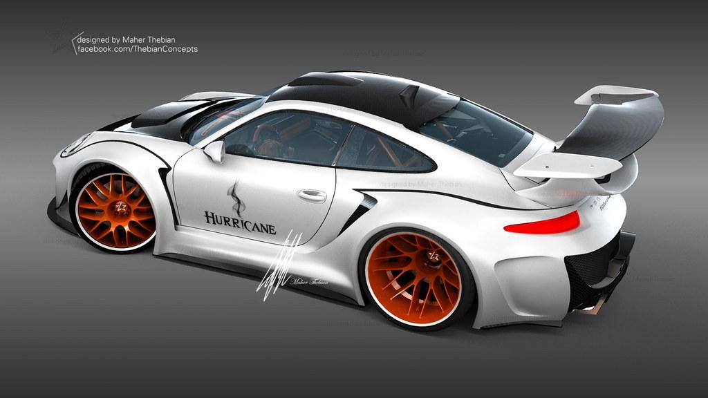 Rendering Porsche 911 Hurricane By Maher Thebian