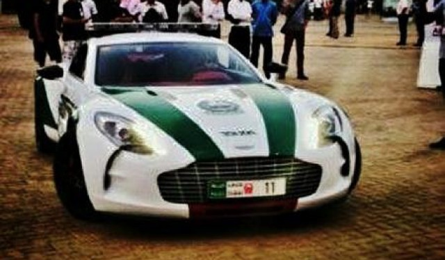 dubai police aston one 77 1 at Dubai Police Strikes Again: This Time with Aston Martin One 77!
