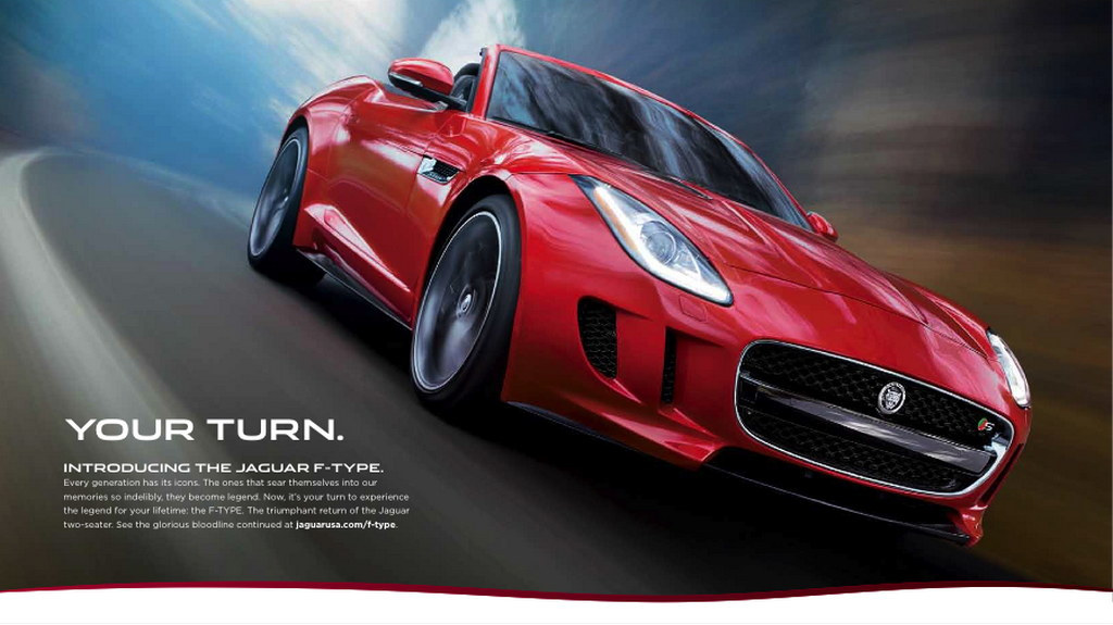Jaguar Launches Your Turn Advertising Campaign For F Type
