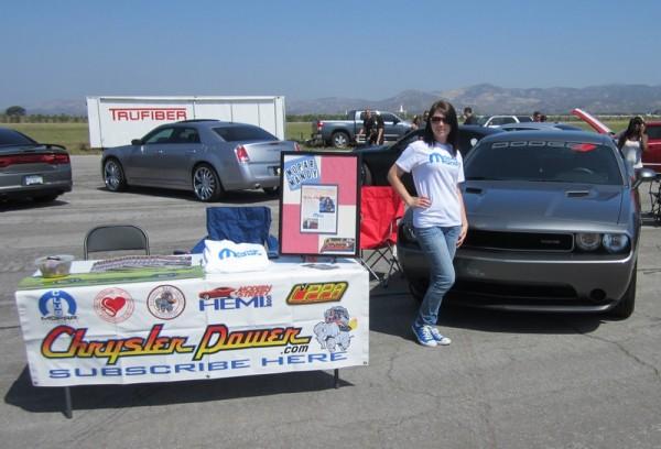 mandy mopar chrysler power booth 600x408 at Mopar Mandy: Interview with Amanda Yantos