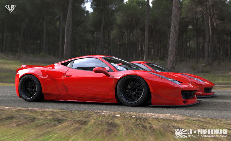 Ferrari lb-performance-liberty-walk-458-nitto-custom tricked out  ...
