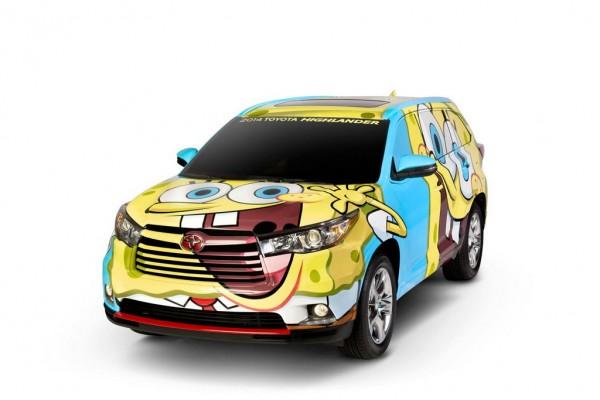SpongeBob Themed Toyota Highlander 1 600x400 at SpongeBob Themed Toyota Highlander by Nickelodeon