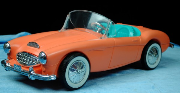Austin Healey barbie 600x312 at What's Barbie Driving? Barbies Cars History