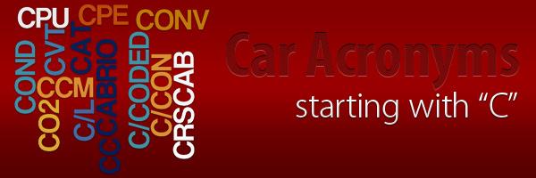 Car Acronyms C at Car Acronyms C
