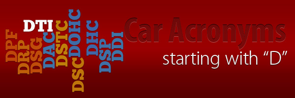 Car Acronyms D at Car Acronyms D