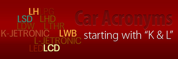 Car Acronyms K L at Car Acronyms K & L