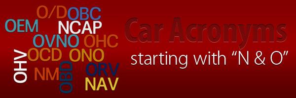 Car Acronyms N O at Car Acronyms N & O