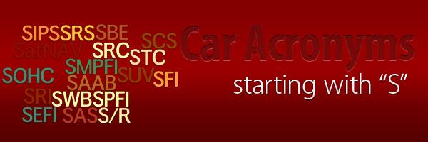 Car Acronyms S at Car Acronyms S