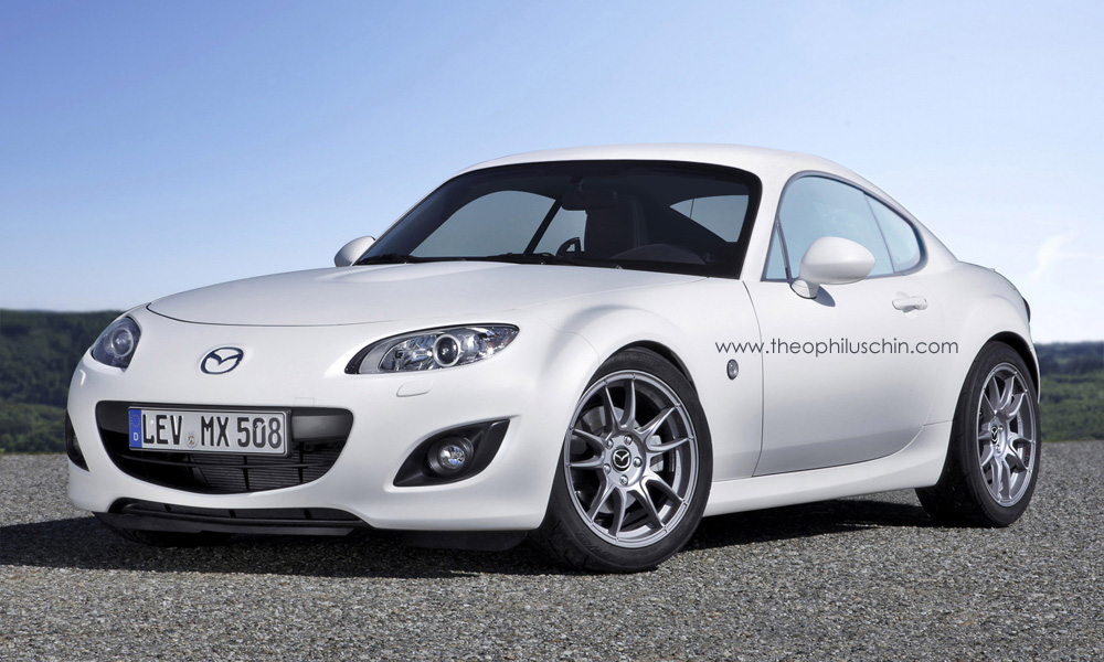 rendering: mazda mx-5 coupe