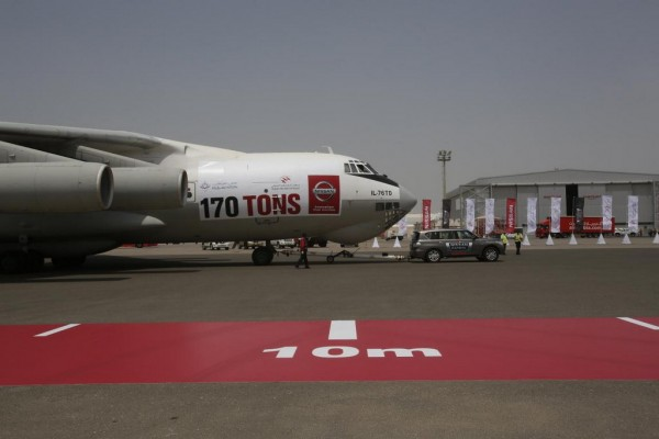 Nissan Patrol Challenge 5 600x400 at Nissan Patrol Tows Cargo Plane Into The Book Of World Records