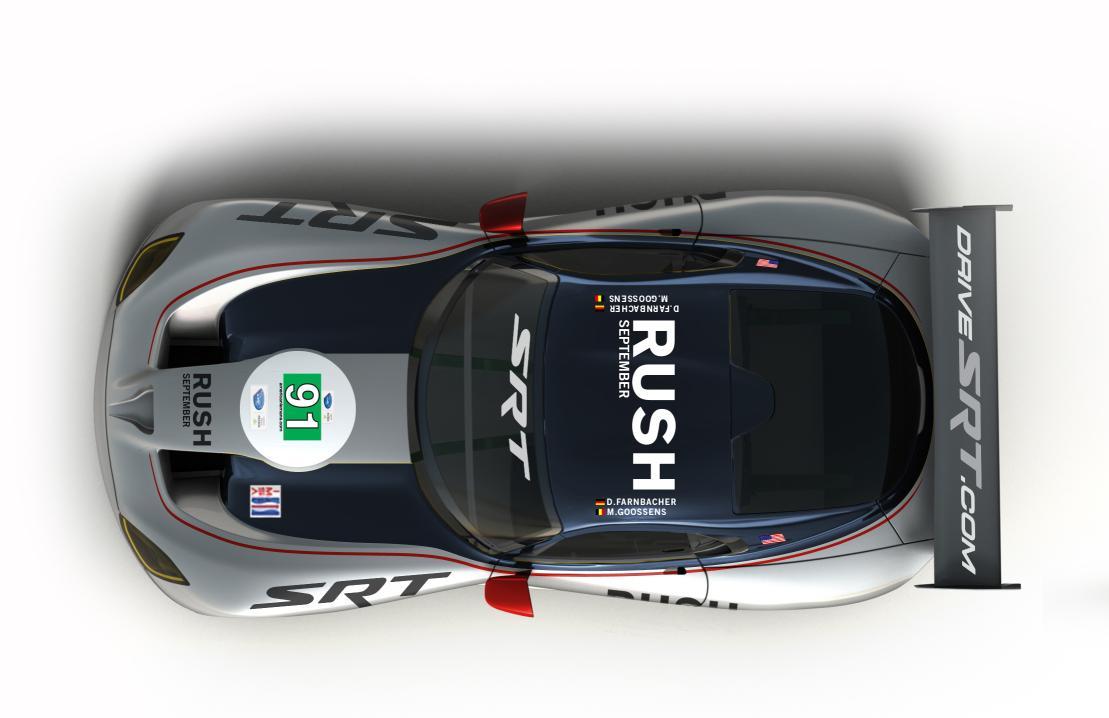 RUSH Viper 1 at SRT Viper GTS R Race Car To Promote RUSH