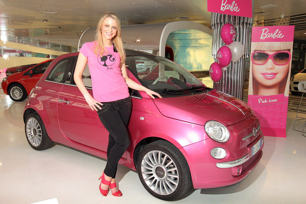 barbie fiat 500 london at What's Barbie Driving? Barbies Cars History