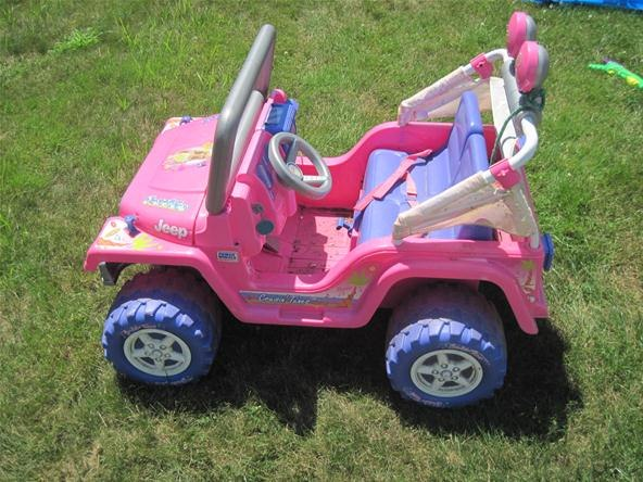 barbie pink jeep at What's Barbie Driving? Barbies Cars History