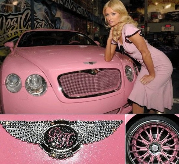 paris hilton bentley continental gt at What's Barbie Driving? Barbies Cars History
