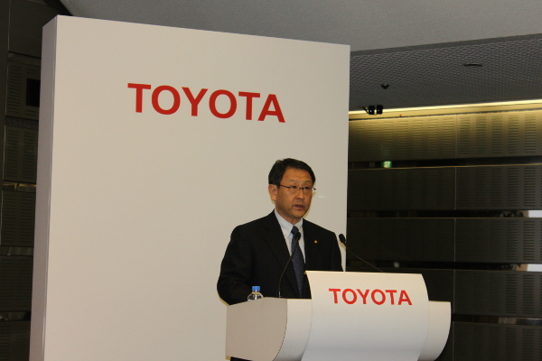 Akio Toyoda at Toyotas Rumored Sports Coupe Plan