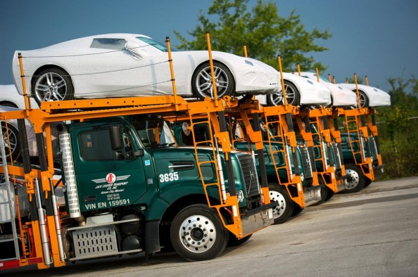 BowlingGreenCorvetteDelivery 3 600x399 at 2014 Corvette Stingray Deliveries Begin