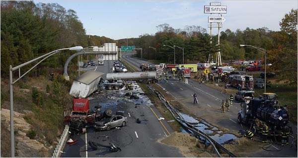 Interstate 95 Connecticut at The Top 10 Most Dangerous Roads To Drive In America