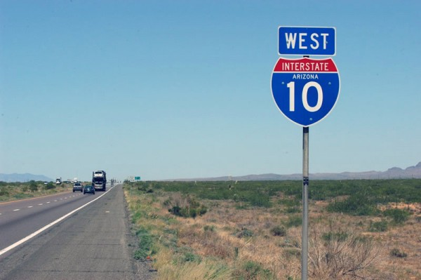 interstate 10 600x399 at The Top 10 Most Dangerous Roads To Drive In America