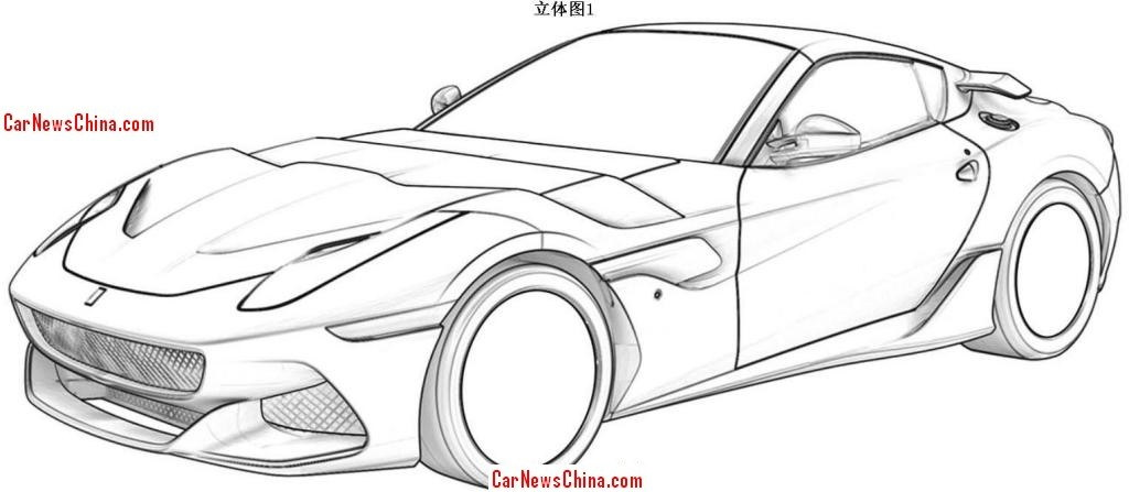 alleged ferrari f12 gto patent drawings surface online